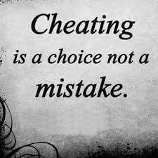 cheating is a choice